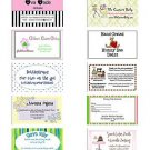 30 Personalized Hang Tags