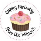 Personalized Birthday Labels - Cake & Cupcakes
