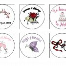 108  Wedding Kiss Candy Labels - Hundreds of Designs