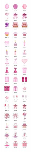 Personalized PiNk Birthday labels - Wedding Anniversary