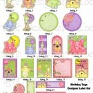 10 Birthday Gift Tags - Party Animals