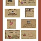 30 Personalized Brown Kraft Business Cards Hang Tags