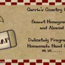 pRiMiTiVe Brown Kraft Labels - Crows, Gingerbread
