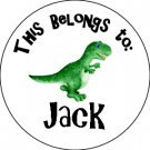 Personalized Waterproof Labels - Childrens Dinosaur