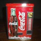 Coca Cola vending bank tin