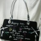Black Glitter Small Tote