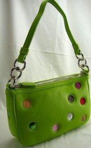 Green Polka Dot Gallery Pouch