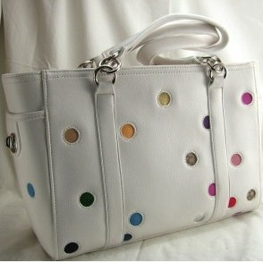 White Polka Dot Gallery Tote