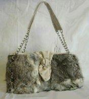 Wholesale Lot of 10 Rabbit Fur Handbags 6 styles 3 colors