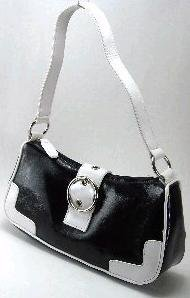 Black & White Buckle Bag