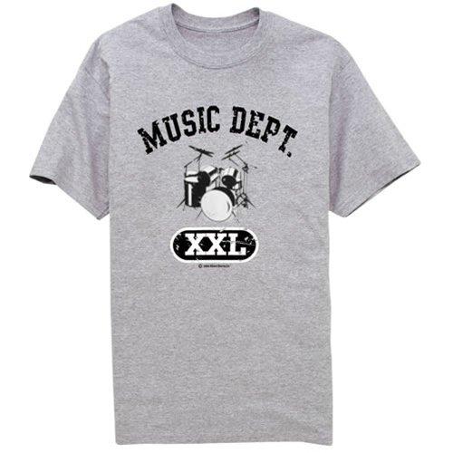 MUSIC DEPT. DRUMS T-SHIRT NEW t-shirts
