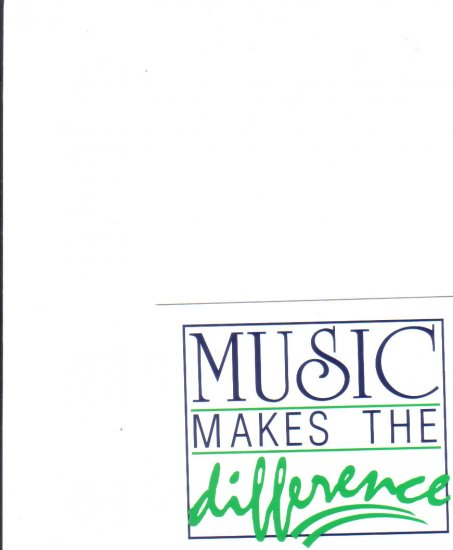 MUSIC MAKES THE DIFFERENCE decal FREE SHIPPING NEW
