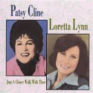 PATSY CLINE LORETTA LYNN JUST A CLOSER WALK WITH THEE music cd free shipping