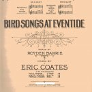 BIRD SONGS AT EVENTIDE piano vocal sheet music 1928