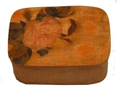 Vintage jewelry box with rose