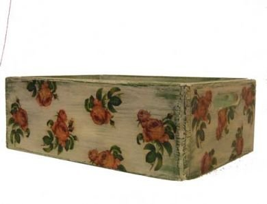 Large box with roses