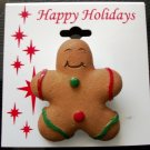Pin/Brooch Holiday Gingerbread Cookie Man, X-mas, Christmas