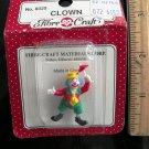 Fibre Craft miniature Clown Holding Tiny Red Umbrella
