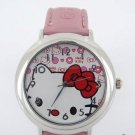 Fun/Love Pink Hello Kitty Watch, Red Bow & Hearts
