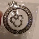 Mickey Mouse Swarovski Crystal Pendant for Necklace, Silver plated