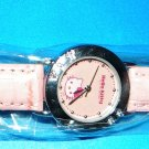 Cute Hello Kitty Watch: Pink with Crystals, Women's