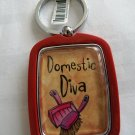 Domestic Diva / Desperate Housewife, Key Chain (red)