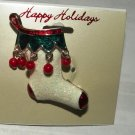Christmas Stocking with Jester Dangles Brooch