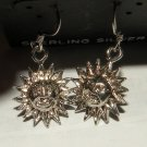 Smiling Sun sterling Silver Dangle Earrings