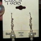 Pearl Bead Dangle Earrings, 1 inch
