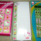 HELLO KITTY Garden Theme Stickers, Note Pad, Pencils