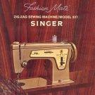 Singer Model 237 Fashion Mate Zig Zag Sewing MANUAL in pdf format
