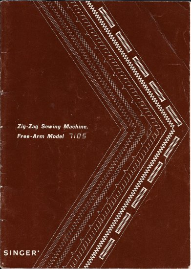Singer Model 7105 Zig Zag Sewing Machine MANUAL in pdf format
