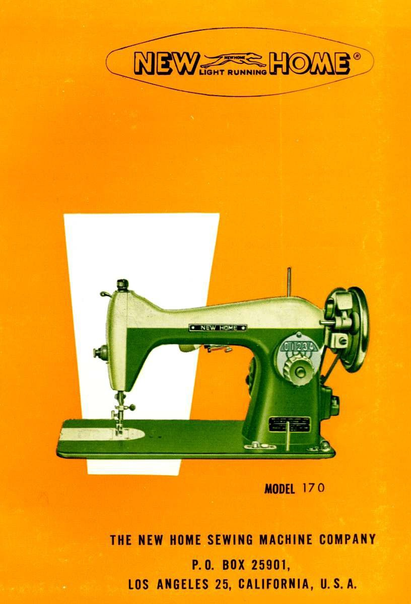 New Home Model 170 Sewing Machine MANUAL in pdf format