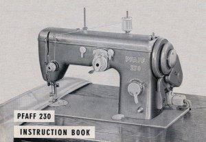 Pfaff Model 230 Sewing Machine in pdf format