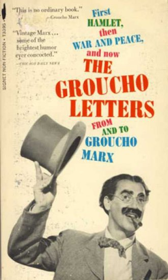 The Groucho Letters by Groucho Marx (Book) 1967