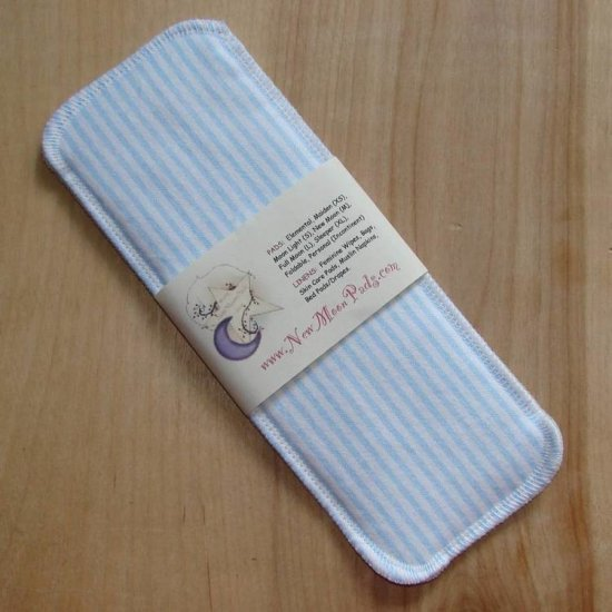 Cloth Menstrual Moon Light Pad by NEW MOON PADS - Blue Stripes