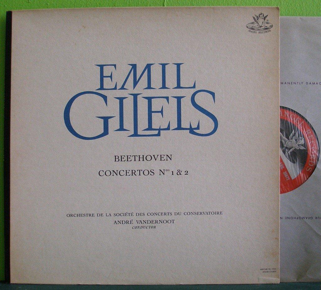 Emil Gilels~Beethoven Concertos Nos 1 & 2~ Angel  LP