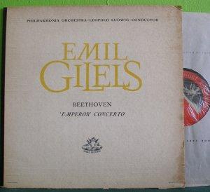 Emil Gilels~Beethoven Emperor Concerto~ Angel  LP
