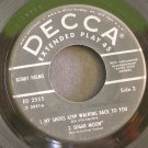 BOBBY HELMS~If I Only Knew~ Decca ED 2555 1957, 45 EP