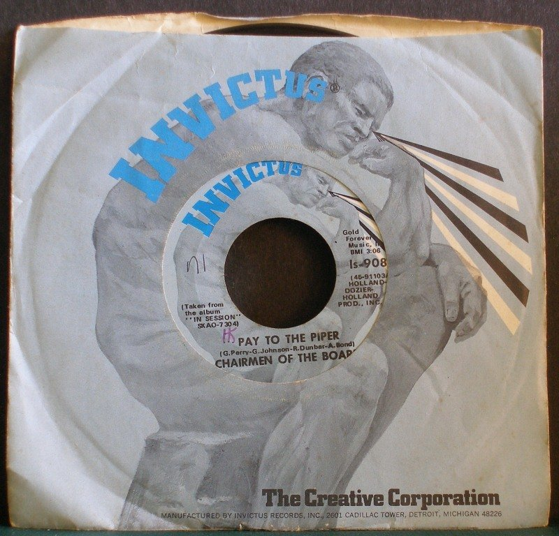 CHAIRMEN OF THE BOARD~Pay to the Piper / Bless You~ Invictus IS-9081 1970, 45