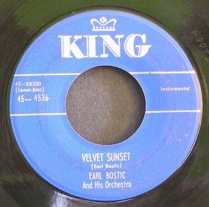 EARL BOSTIC~Velvet Sunset / Linger Awhile~ King 45-4536 1952, 45 VG+