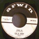 JAN & ARNIE~Jennie Lee / Gotta Getta Date~ Arwin MM-108-45 1958, 45