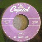 JOE FINGERS CARR~Sophia / Sea Breeze~ Capitol F3791 1957, 45