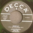 OWEN BRADLEY~Moritat / Lights of Vienna~ Decca 9-29816 1956, 45
