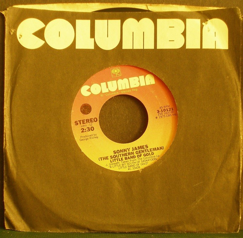 SONNY JAMES~Little Band of Gold / Pop and Me~ Columbia 3-10121 1975, 45