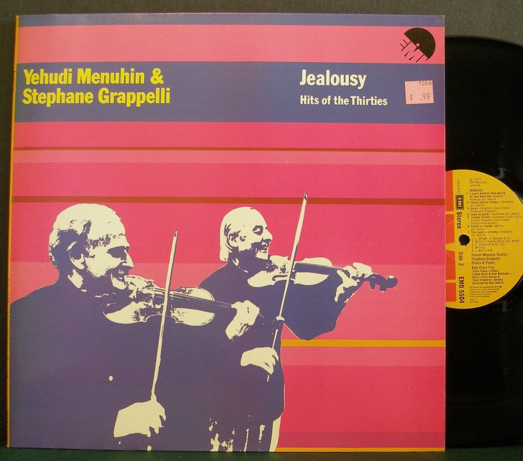 MENUHIN & GRAPPELLI~Jealousy - Hits of the Thirties~EMI EMD 5504 LP