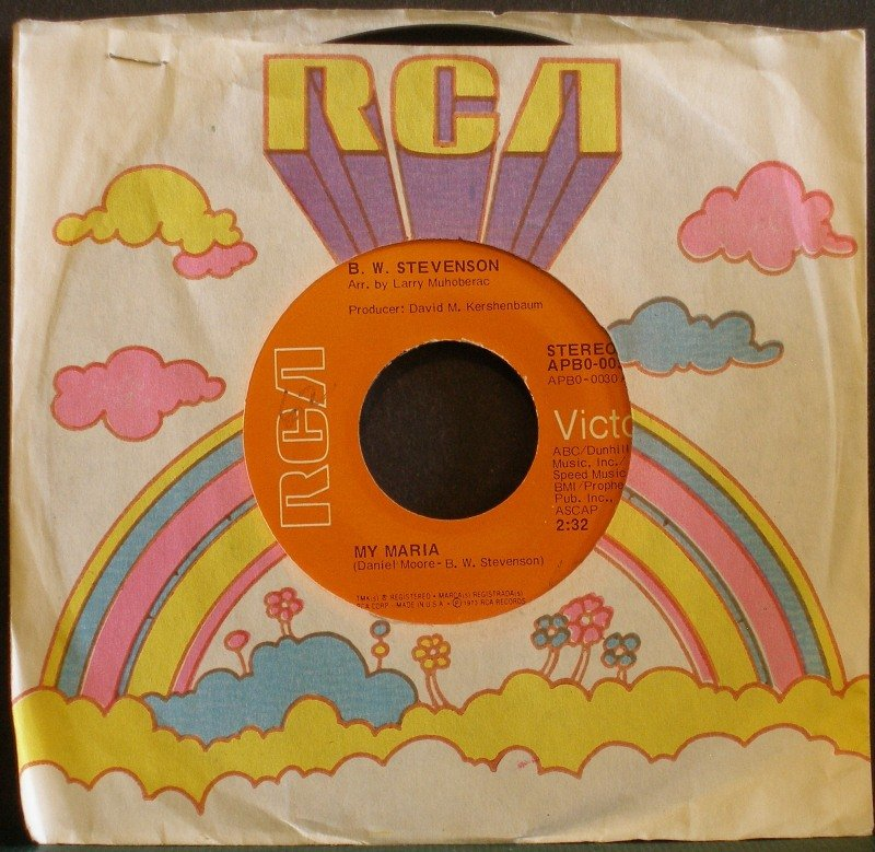 B.W. STEVENSON~My Maria~ RCA Victor APB0-0030 1973, 45