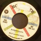 BILLY & DON HART~Blabbermouth / Check-Mated~ Roulette R-4172 1959, PROMO 45