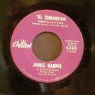 JANICE HARPER~Til Tomorrow / Forever, Forever~ Capitol 4356 1960, 45