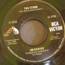 JIM REEVES~The Storm / Trying to Forget~ RCA Victor 47-9238 1967, 45